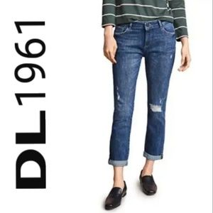 DL1961 distressed stevie slim boyfriend medium
